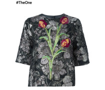 tulip floral embroidered top