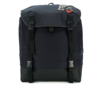 embroidered patch detail backpack