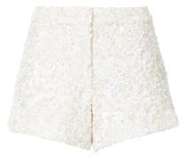 Shorts mit Paillettenverzierung