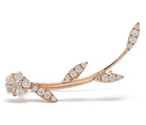 18kt rose gold diamond single leaf earring