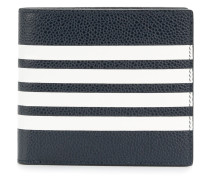 Billfold With Contrast 4-bar Stripe In Pebble Grain & Calf Leather