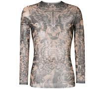 Langarmshirt mit Tattoo-Print