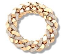 18kt Rotgoldarmband mit Diamanten