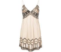 Kleid mit Perlenstickerei