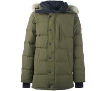 hooded zipped coat
