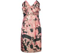 printed pointy bandeau dress