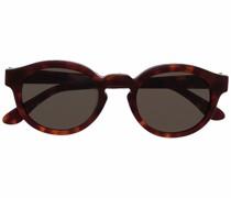 Ovale Sonnenbrille in Schildpattoptik