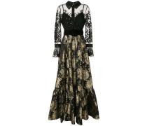 Verziertes Jacquard-Abendkleid