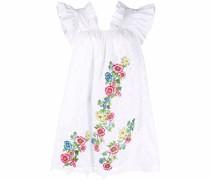 Ausgestelltes Kleid mit Blumenstickerei
