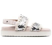 sequin-embellished sandals