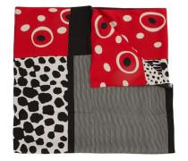 contrast print scarf