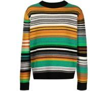 Gestrickter Quarter Stripe Pullover