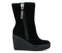 wedge zip boots