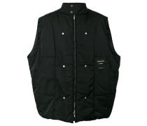back photo print vest - men - Polyester - 44
