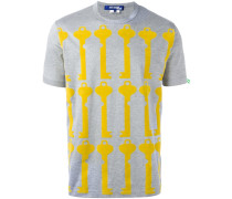 T-Shirt mit Schlüssel-Print