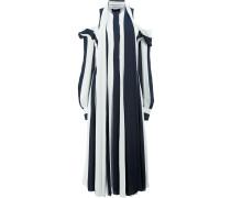 Gestreiftes Kleid mit Cut-Outs