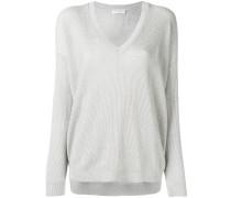 Gerippter Pullover mit V-Ausschnitt - women