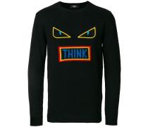 appliqué crew neck sweater