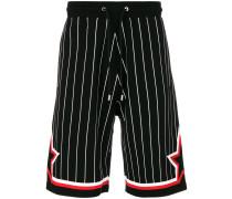 striped jersey baseball bermuda shorts