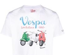 "T-Shirt mit ""Vespa Les Italiens""-Print"