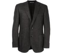 woven single breasted blazer