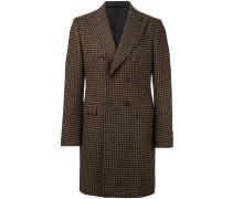 Doppelreihiger Mantel mit Hahnentrittmuster
