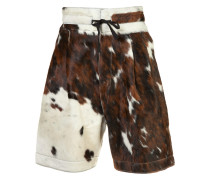 Shorts mit Kuhfell-Optik