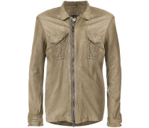 creased zipped jacket