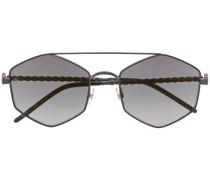 Sonnenbrille mit geometrischem Gestell