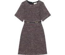 Tweed-Kleid mit Pailletten