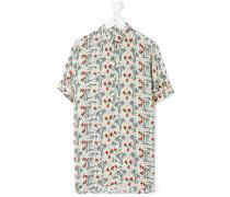 Hemdkleid mit Palmen-Print - kids - Viskose - 4