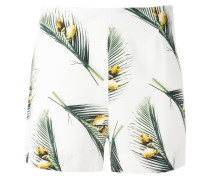 Shorts mit Blätter-Print - women