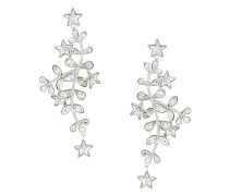 crystal vine and star earrings