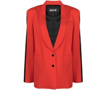 single-breasted tuxedo blazer