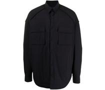oversized chest-pocket shirt
