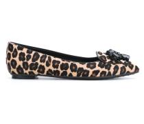 leopard print ballerina