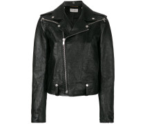 shrunken fit biker jacket