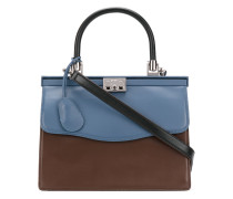 contrast clasp tote