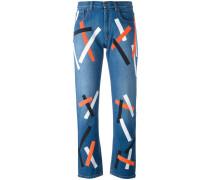 - Jeans mit Print - women - Baumwolle - 26
