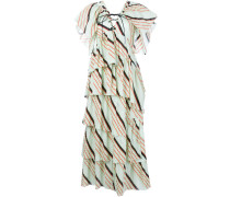 Gestreiftes Kleid mit mehreren Lagen
