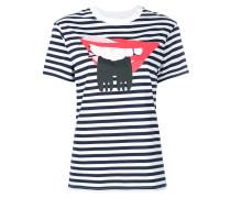 T-Shirt mit Lippen-Print