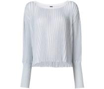 Metallischer Pullover mit geripptem Design