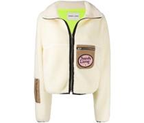 Shearling-Jacke mit Kontrasttaschen