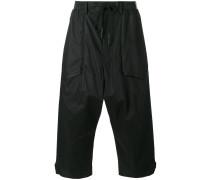 - Cropped-Hose mit weitem Bein - men - Baumwolle