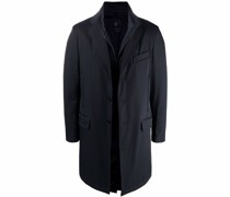 single-breasted tailored coat