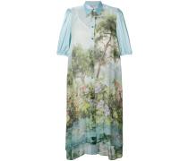 printed midi shirt dress