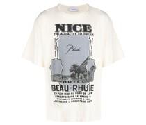"T-Shirt mit ""Nice""-Print"