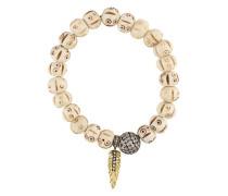 Armband mit Diamanten und Holzperlen