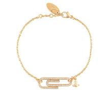 Vergoldetes 'Doreen' Armband mit Zirkonia