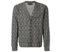 embroidered concealed placket cardigan